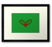 Cute holly Framed Print