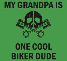 My Grandpa Is One Cool Biker Dude Baby Tee