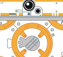 Minimal BB8 Droid by Minnimals