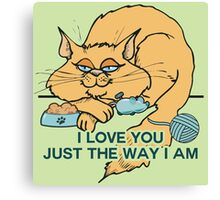 I Love You Funny Cat Graphic Saying Canvas Print