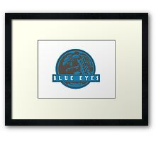 Blue Eyes  White Jurassic Dragon  Framed Print