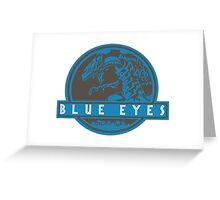 Blue Eyes  White Jurassic Dragon  Greeting Card