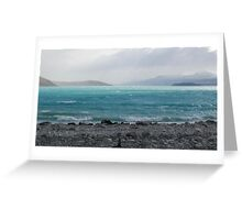Turquoise Tempest Greeting Card