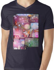 Bigger On The Inside - Vintage Electronic Fantasy Mens V-Neck T-Shirt