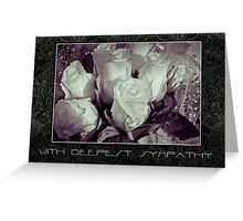 water droplets and rose sympathy card Greeting Card