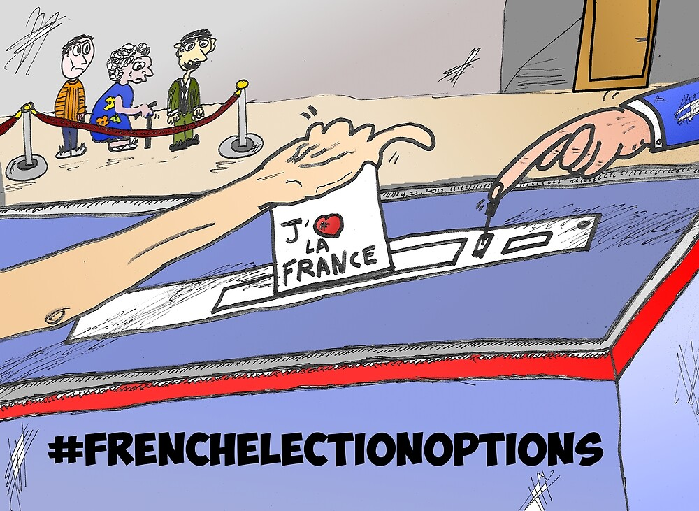 Binary Options News Cartoon French Election Day by Binary-Options