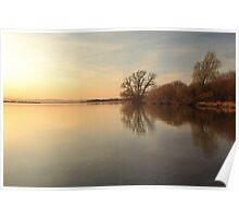Loch Leven Sunset Poster