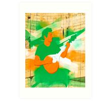 Live Irish Music Art Print