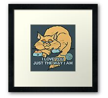 I Love You Funny Cat Graphic Saying Framed Print