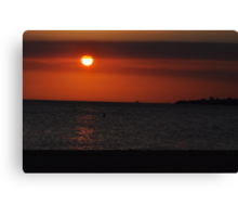 Sunset in Mordialloc II Canvas Print