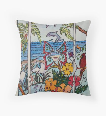 Opening the Window to my World..... Throw Pillow