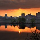 Harrisburg Skyline at Sunrise by Lori Deiter