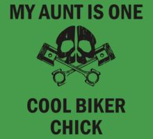 My Aunt Is One Cool Biker Chick Kids Tee