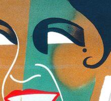 Josephine Baker Vintage Poster for Stockholm Sticker