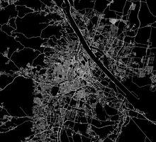 Vienna map Austria by linelinelines