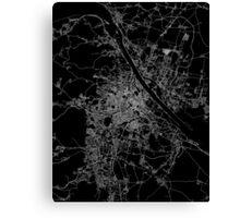 Vienna map Austria Canvas Print