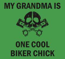 My Grandma Is One Cool Biker Chick Baby Tee
