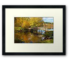 Little Bridge at Lake Daylesford Framed Print