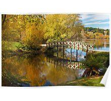 Little Bridge at Lake Daylesford Poster