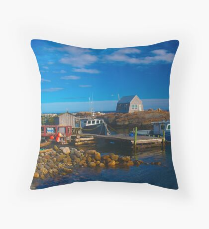 Blue Rocks, Nova Scotia, Canada Throw Pillow