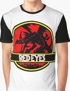 Red Eyes Black Jurassic Dragon Graphic T-Shirt