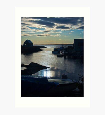Setting Sun - Blue Rocks, Nova Scotia, Canada Art Print