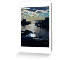 Setting Sun - Blue Rocks, Nova Scotia, Canada Greeting Card