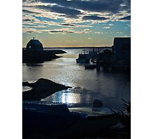 Setting Sun - Blue Rocks, Nova Scotia, Canada Photographic Print