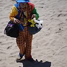 Sad Clown at the Beach - Payaso triste en la Playa by PtoVallartaMex
