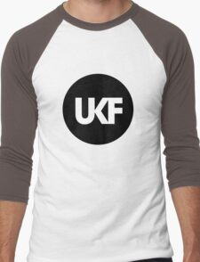 UKF-Black and White Men's Baseball ¾ T-Shirt