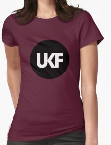 UKF-Black and White Womens Fitted T-Shirt