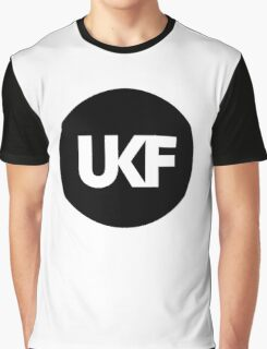 UKF-Black and White Graphic T-Shirt