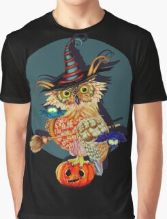 Owl Scary Graphic T-Shirt