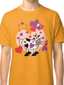 Cow Love with a Bumble Bee Classic T-Shirt
