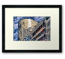 The shape of here and now Framed Print
