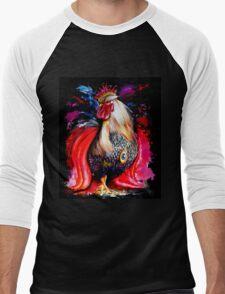 King Rooster Men's Baseball ¾ T-Shirt