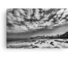 Tenby Harbour North Beach View 2 Mono Canvas Print