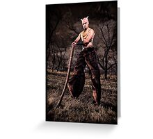 Satyr Greeting Card