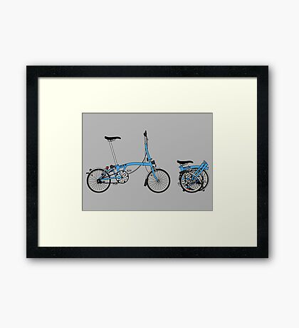 Brompton Bicycle Framed Print