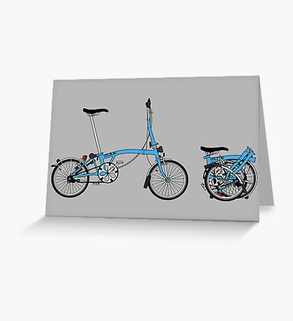 Brompton Bicycle Greeting Card