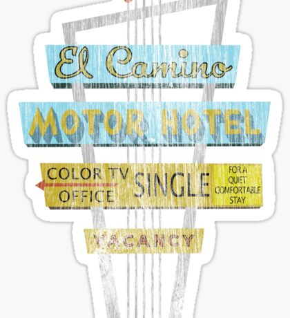 Vintage Motel Sign - El Camino Sticker