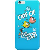 Out Of Your Comfort Zone ! Spongebob and Patrick (Blue Edition) iPhone Case/Skin