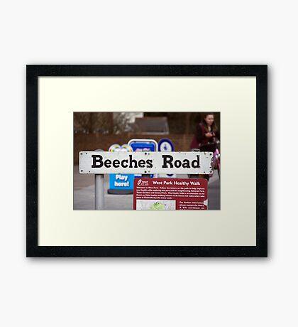 Beeches Road Framed Print