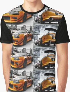 Toyata Supra - Pimped street car racer HDR Graphic T-Shirt