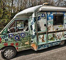 Painted Camper Van by Steve Purnell