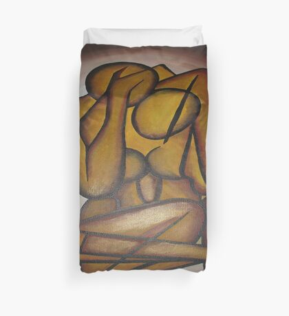 Abstract Lovers Duvet Cover