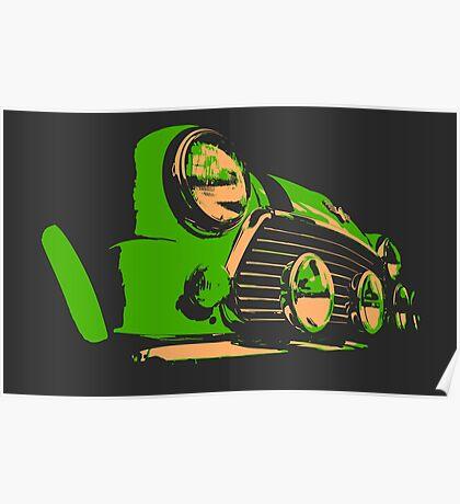 Classic Mini - Green Poster