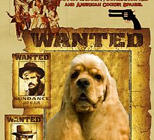 American Cocker Spaniel Art - Butch Cassidy and the Sundance Kid by NobilityDogs
