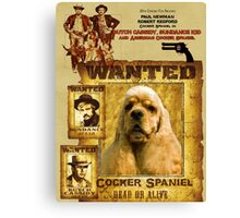 American Cocker Spaniel Art - Butch Cassidy and the Sundance Kid Canvas Print