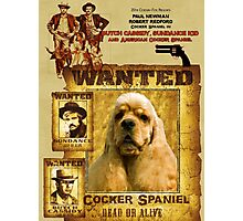 American Cocker Spaniel Art - Butch Cassidy and the Sundance Kid Photographic Print